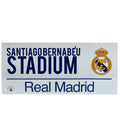 White - Front - Real Madrid FC Official Street Sign