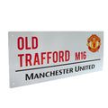 White - Back - Manchester United FC Official Street Sign