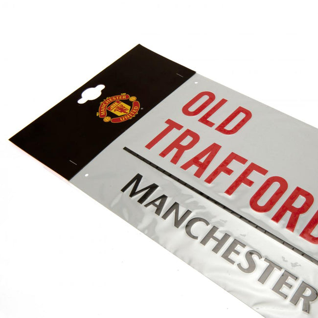 White - Side - Manchester United FC Official Street Sign