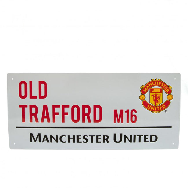 White - Front - Manchester United FC Official Street Sign
