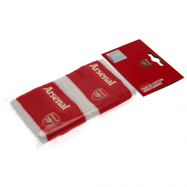 Red - Back - Arsenal FC Official Wristbands (Set Of 2)