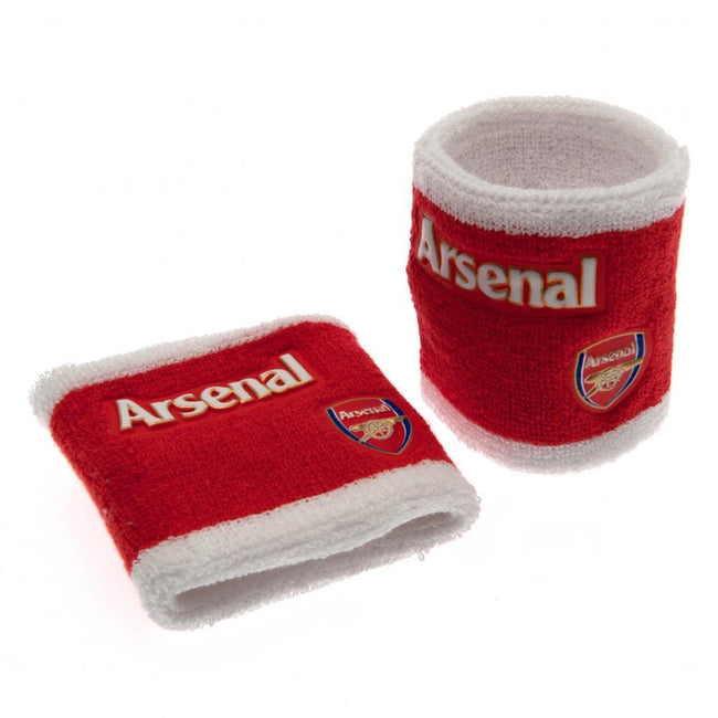 Red - Front - Arsenal FC Official Wristbands (Set Of 2)