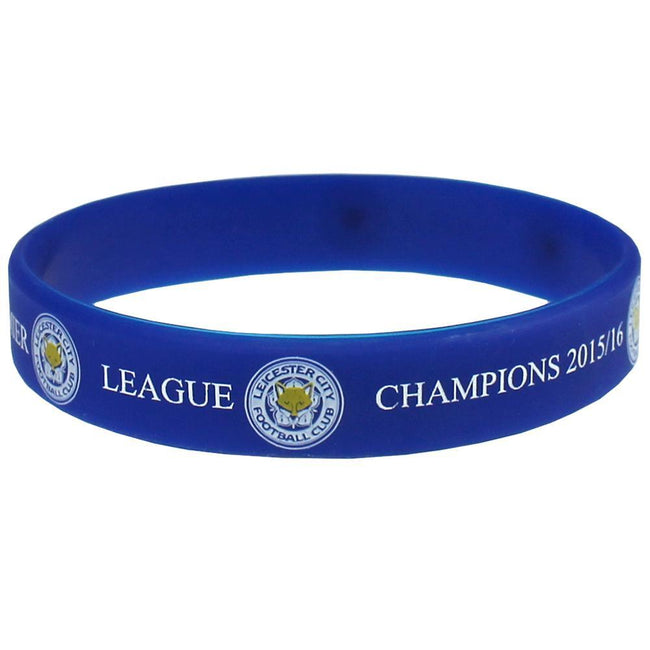 Blue - Front - Leicester City FC Official Champions Silicone Wristband