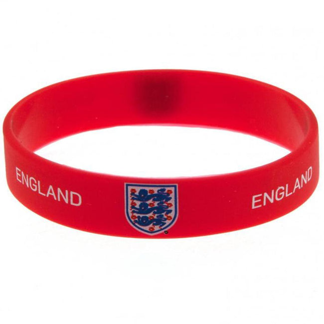 Red - Front - England FA Official Silicone Wristband