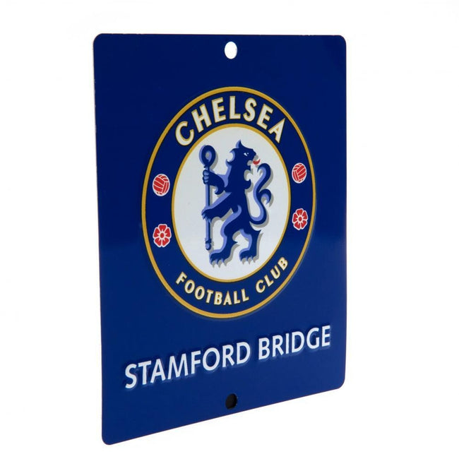 Blue - Back - Chelsea FC Official SQ Window Sign