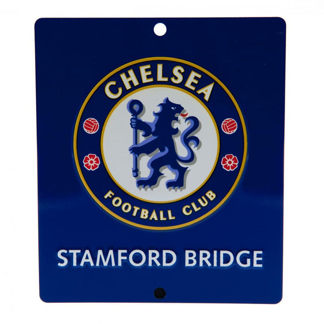 Blue - Front - Chelsea FC Official SQ Window Sign