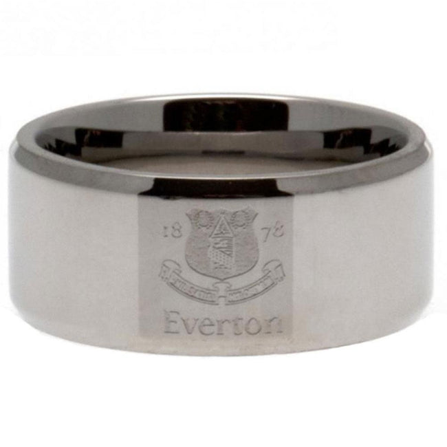 Silver - Front - Everton FC Band Ring