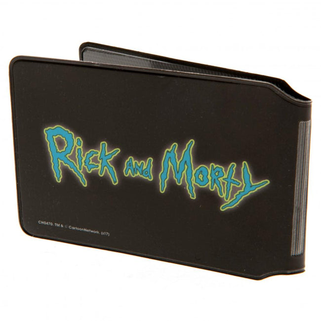 Black - Back - Rick And Morty Pickle Rick Card Holder