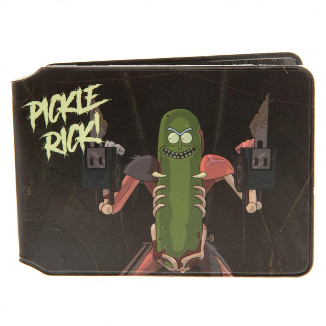 Black - Side - Rick And Morty Pickle Rick Card Holder