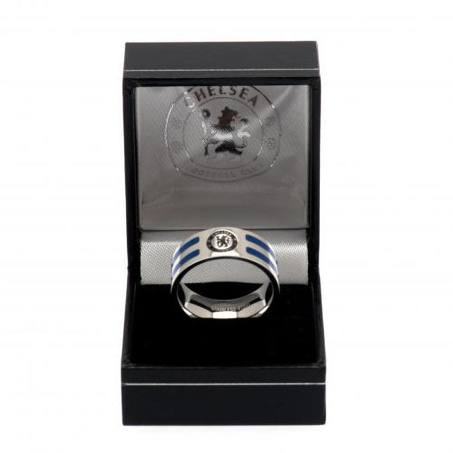 Silver-Blue - Side - Chelsea FC Colour Stripe Ring