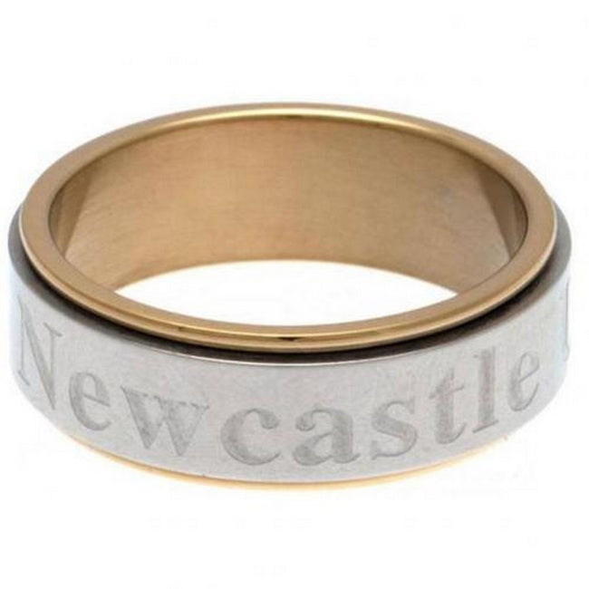 Gold-Silver - Front - Newcastle United FC Bi Colour Spinner Ring