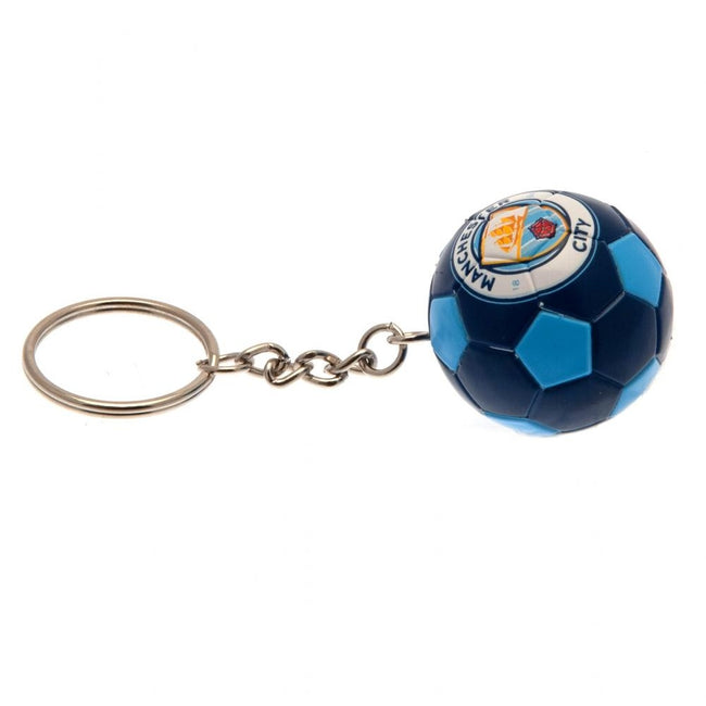 Blue - Back - Manchester City FC Football Keyring