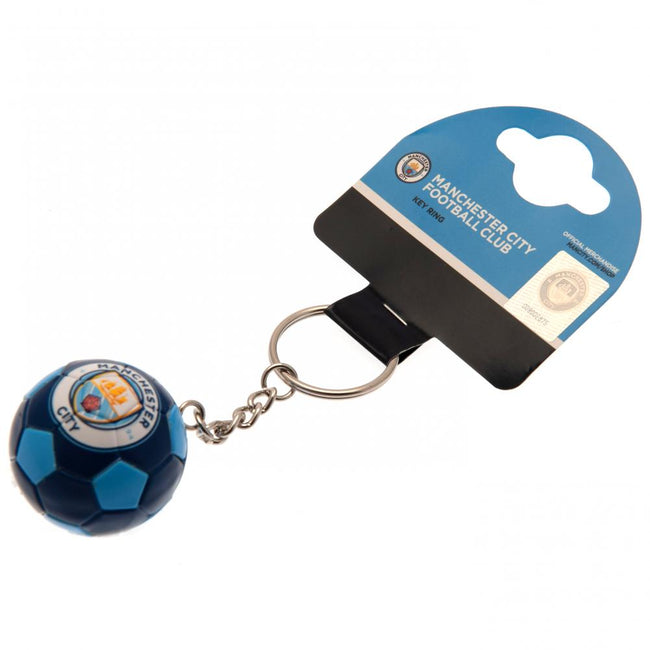 Blue - Side - Manchester City FC Football Keyring