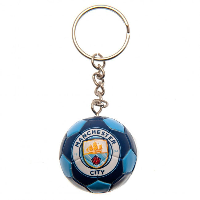 Blue - Front - Manchester City FC Football Keyring