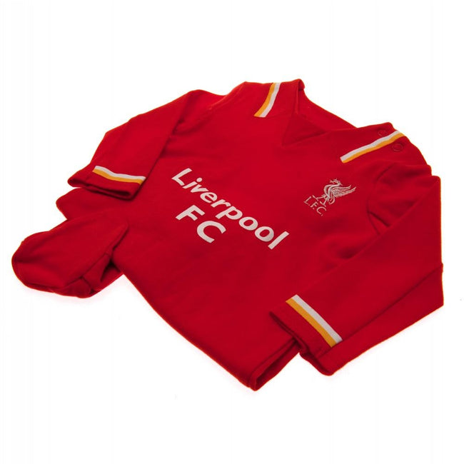 Red - Back - Liverpool FC Baby RW Sleepsuit