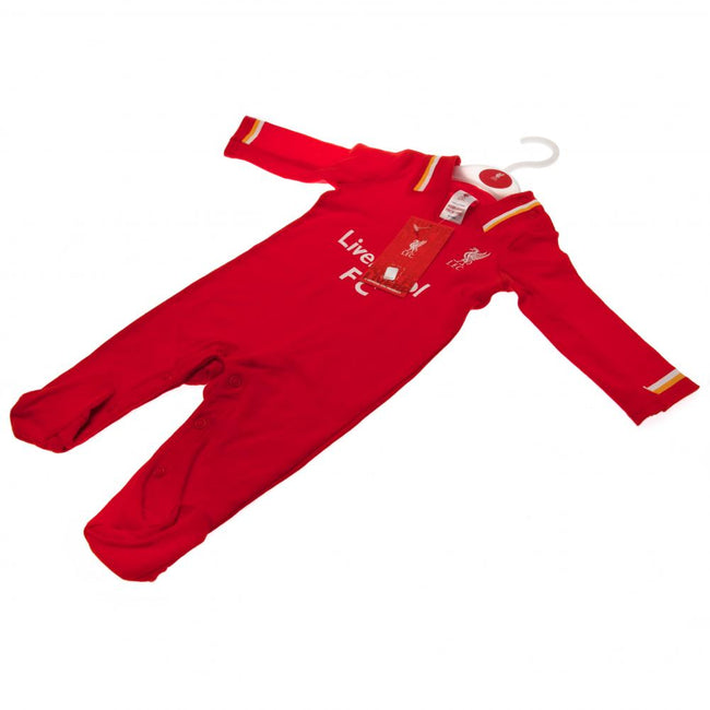 Red - Side - Liverpool FC Baby RW Sleepsuit