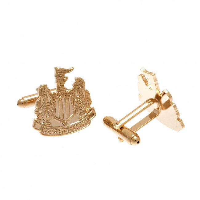 Gold - Front - Newcastle United FC Gold Plated Cufflinks