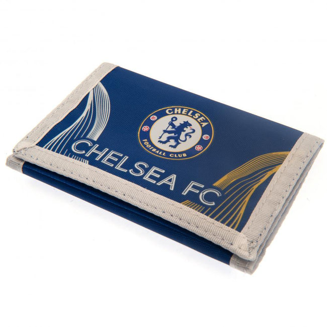 Blue-White - Front - Chelsea FC Nylon Wallet