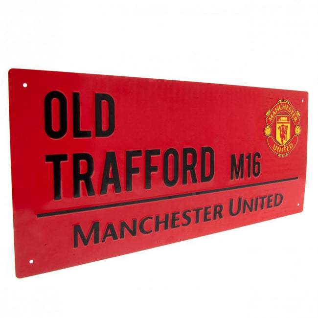 Red-Black - Front - Manchester United FC Street Sign