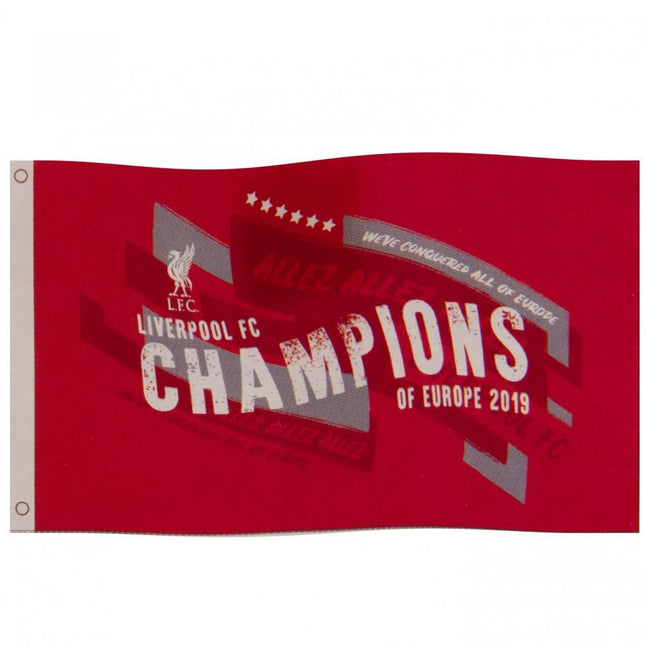 Red - Front - Liverpool FC Champions Of Europe Flag