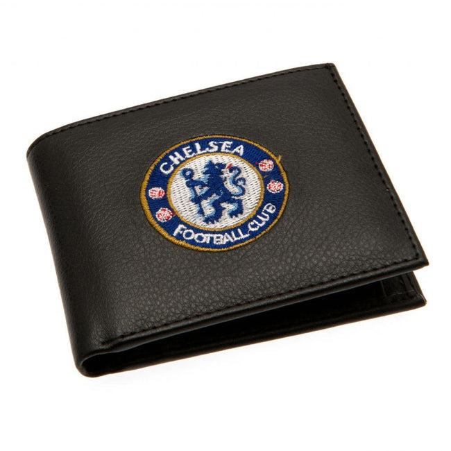 Black - Front - Chelsea FC Embroidered Wallet