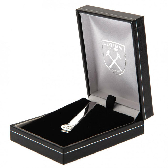 Silver - Back - West Ham United FC Silver Plated Tie Slide