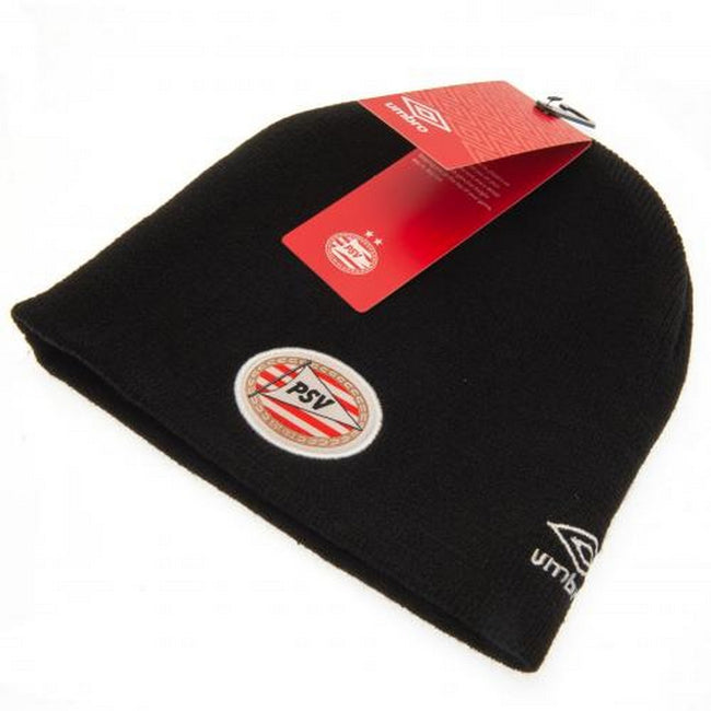 Black - Back - PSV Eindhoven Adults Unisex Umbro Knitted Hat