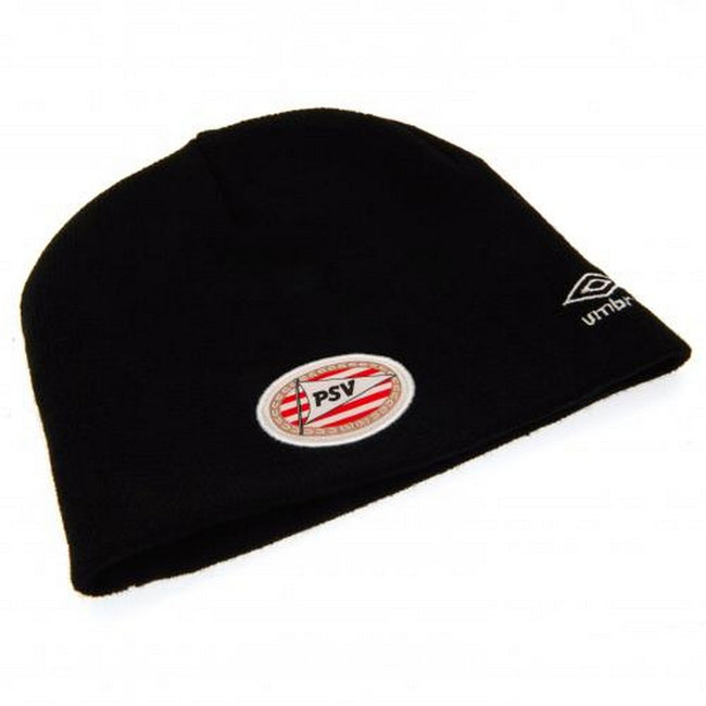 Black - Side - PSV Eindhoven Adults Unisex Umbro Knitted Hat