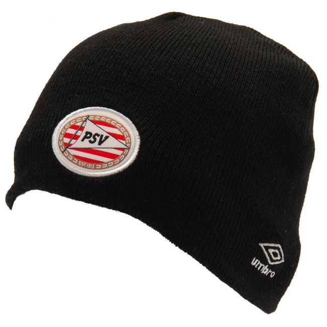 Black - Front - PSV Eindhoven Adults Unisex Umbro Knitted Hat