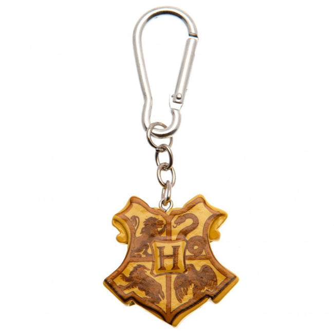 Gold - Front - Harry Potter Hogwarts 3D Keyring