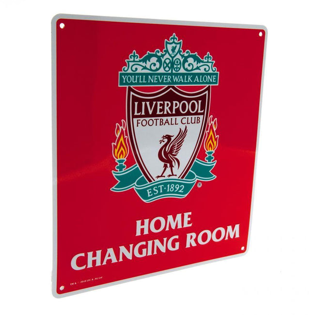 Red - Front - Liverpool FC Official Home Changing Room Sign