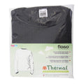 Charcoal - Side - FLOSO Unisex Childrens-Kids Thermal Underwear Long Sleeve T-Shirt-Top