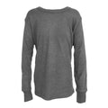 Charcoal - Front - FLOSO Unisex Childrens-Kids Thermal Underwear Long Sleeve T-Shirt-Top