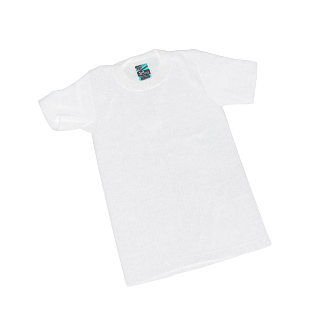 White - Front - Boys Thermal Clothing Short Sleeved T Shirt Polyviscose Range (British Made)