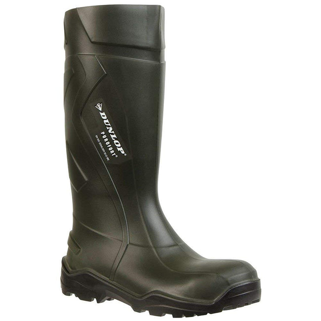 Green - Front - Dunlop Adults Unisex Purofort Plus Full Safety Wellies