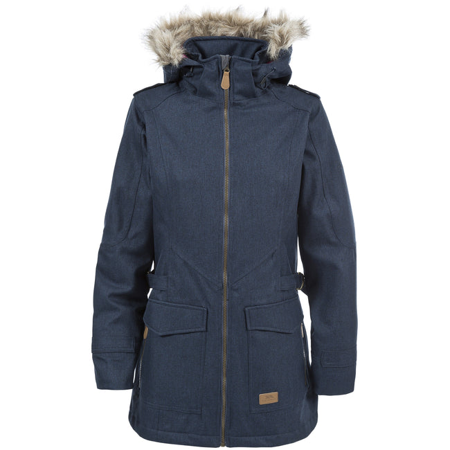 Navy - Front - Trespass Womens-Ladies Everyday Waterproof Jacket-Coat