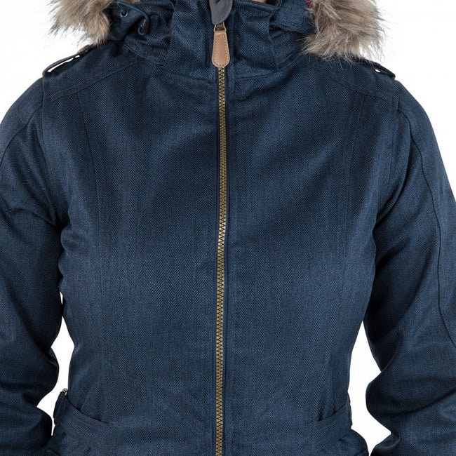 Navy - Back - Trespass Womens-Ladies Everyday Waterproof Jacket-Coat