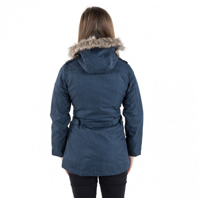 Navy - Pack Shot - Trespass Womens-Ladies Everyday Waterproof Jacket-Coat