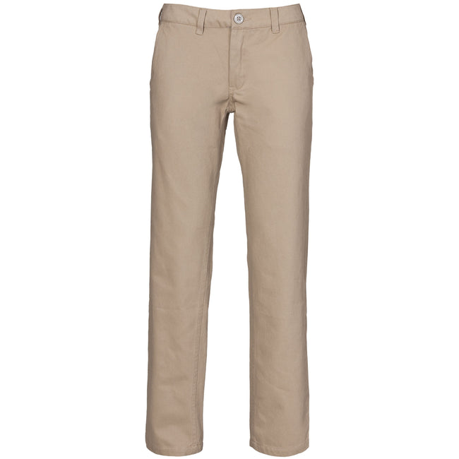 Almond - Front - Trespass Womens-Ladies Makena Casual Trousers