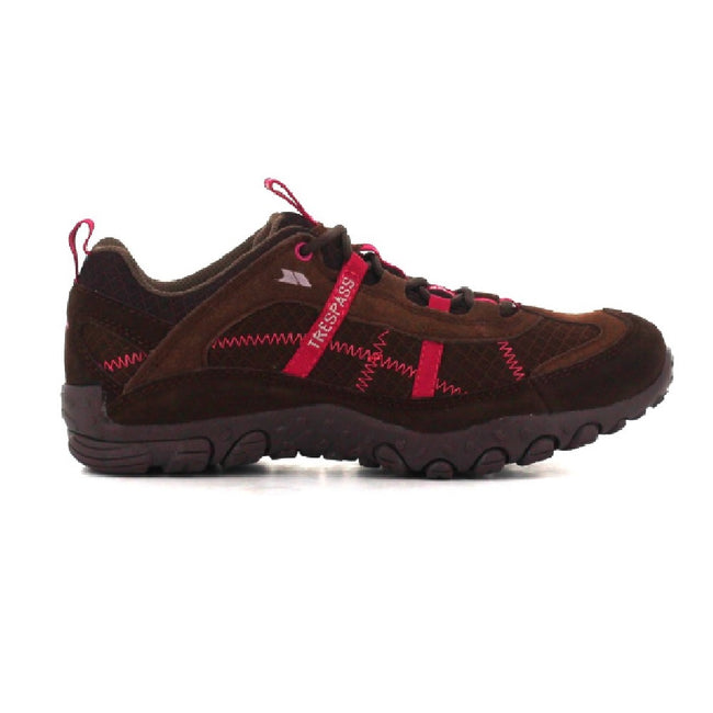 Coffee - Back - Trespass Womens-Ladies Fell Lightweight Walking Shoes