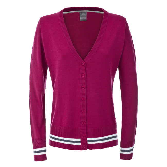 Cerise - Front - Trespass Womens-Ladies Selky Long Sleeve Button Up Cardigan