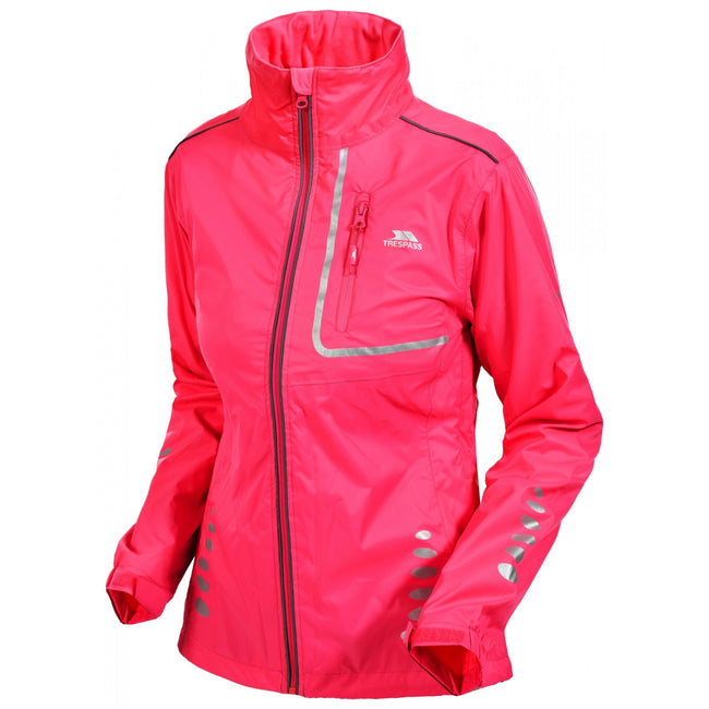 Hi-Vis Pink - Front - Trespass Womens-Ladies Fairing Waterproof Active Jacket