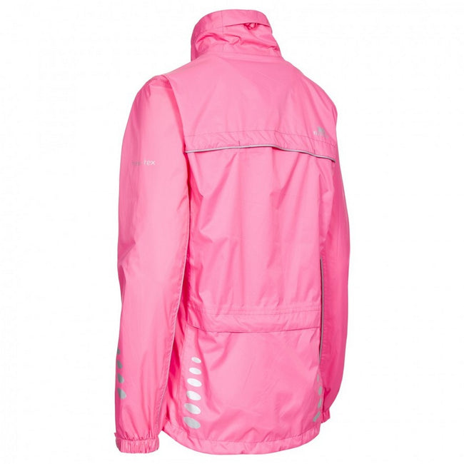 Hi-Vis Pink - Back - Trespass Womens-Ladies Fairing Waterproof Active Jacket