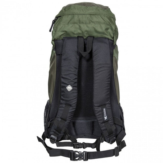 Olive - Side - Trespass Circul8 Hiking Backpack-Rucksack (30 Litres)