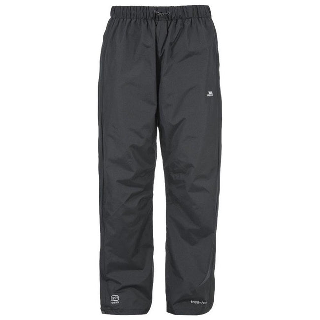 Black - Front - Trespass Mens Purnell Waterproof & Windproof Over Trousers