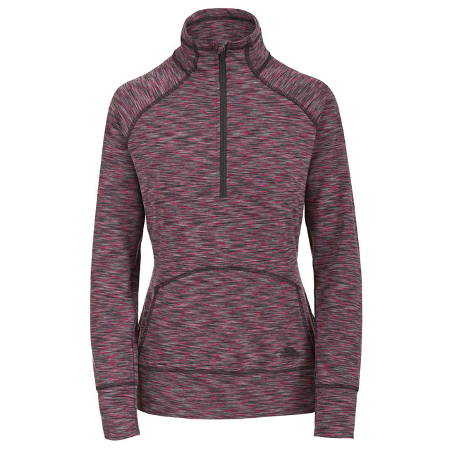 Raspberry Marl - Front - Trespass Womens-Ladies Moxie Half Zip Fleece Top