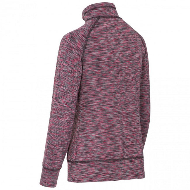 Raspberry Marl - Back - Trespass Womens-Ladies Moxie Half Zip Fleece Top