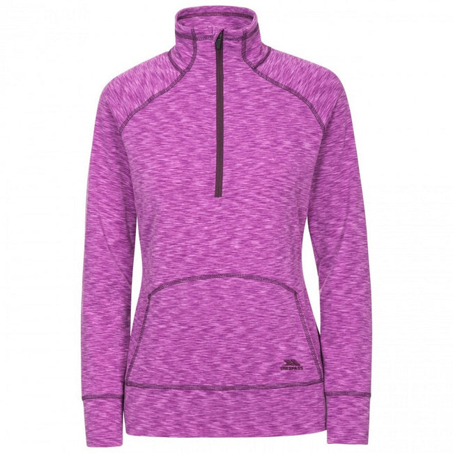 Purple Orchid Marl - Front - Trespass Womens-Ladies Moxie Half Zip Fleece Top