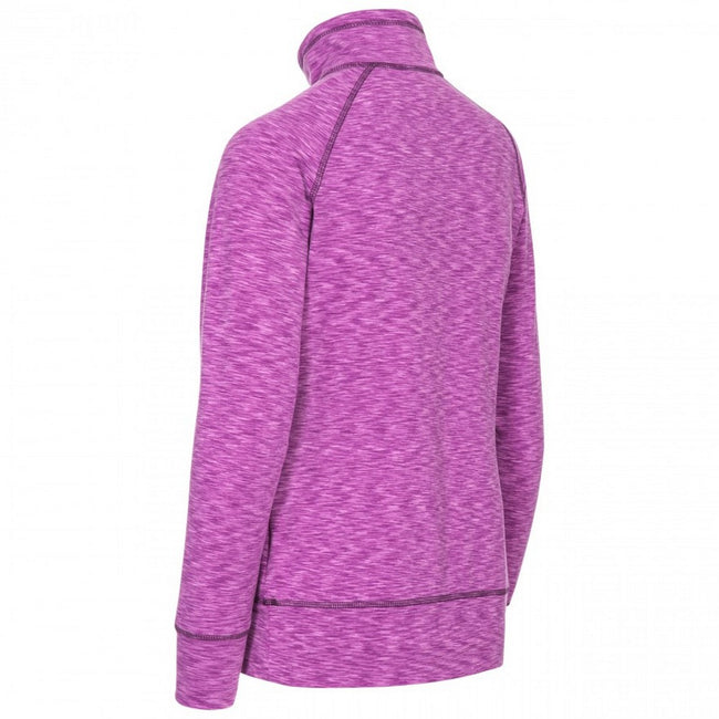 Purple Orchid Marl - Back - Trespass Womens-Ladies Moxie Half Zip Fleece Top