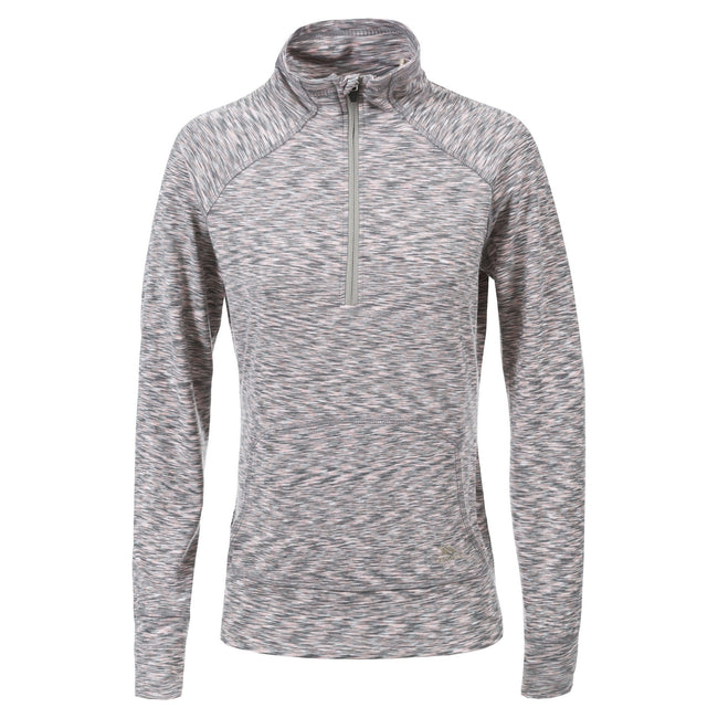 Cool Grey Marl - Front - Trespass Womens-Ladies Moxie Half Zip Fleece Top